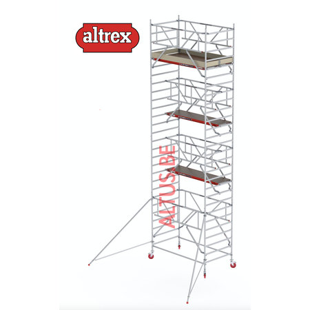 altrex RS TOWER 42-S met Safe-Quick® Guardrail 1,35 x 2,45m x 7,20m VH=9,20M WH