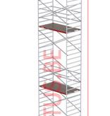 Altrex RS-42 Tower 1.35m B x 2.45m L x 12.20m Vh = 14.20 wh traditionele opbouw