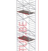 Altrex RS-42 Tower 1.35m B x 1.85m L x 12.20m Vh = 14.20 wh traditionele opbouw