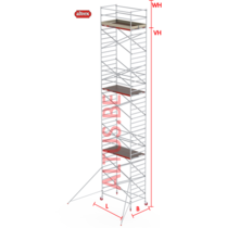 RS-42 Tower 1.35m B x 2.45m L x 11.20m Vh = 13.20 wh traditionele opbouw