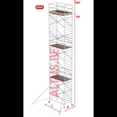 Altrex RS-42 Tower 1.35m B x 2.45m L x 11.20m Vh = 13.20 wh traditionele opbouw