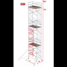 RS-42 Tower 1.35m B x 1.85m L x 11.20m Vh = 13.20 wh traditionele opbouw