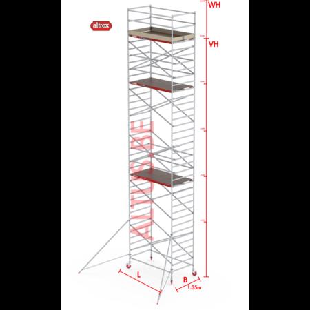 Altrex RS-42 Tower 1.35m B x 1.85m L x 10.20m Vh = 12.20 wh traditionele opbouw