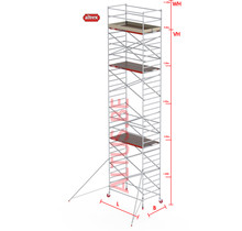 RS-42 Tower 1.35m B x 1.85m L x 9.20m Vh = 11.20 wh traditionele opbouw