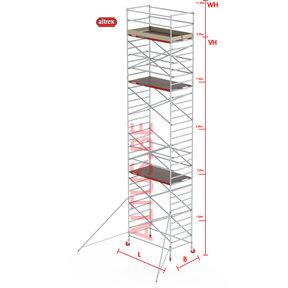 RS-42 Tower 1.35m B x 2.45m L x9.20m Vh = 11.20 wh traditionele opbouw