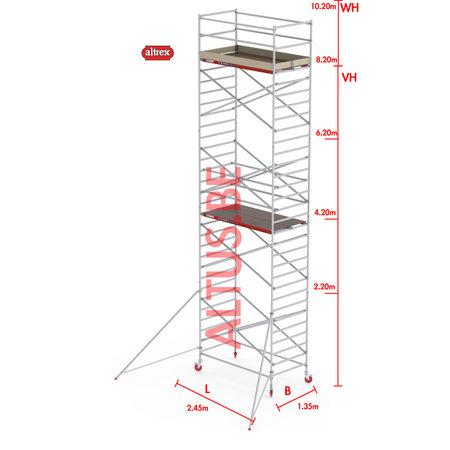 Altrex RS-42 Tower 1.35m B x 2.45m L x 8.20m Vh = 10.20 wh traditionele opbouw