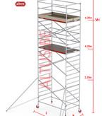 Altrex RS-42 Tower 1.35m B x 1.85m L x 6.20m Vh = 8.20 wh traditionele opbouw