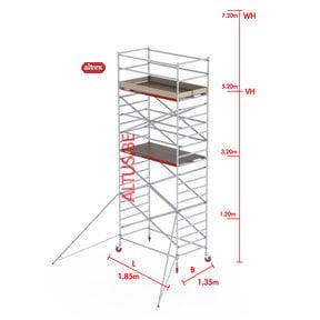 RS-42 Tower 1.35m B x 1.85m L x 5.20m Vh = 7.20 wh traditionele opbouw