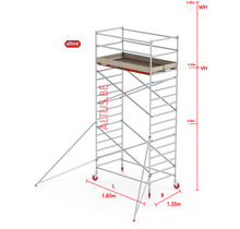 RS-42 Tower 1.35m B x 1.85m L x 4.20m Vh = 6.20 wh traditionele opbouw