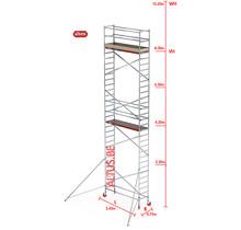 RS-41 Tower 0.75m B x 2.45m L x 8.20m Vh = 10.20 wh traditionele opbouw