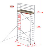 Altrex RS-41 Tower 0.75m B x 2.45m L x 4.20m Vh = 6.20 wh traditionele opbouw