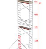 Altrex RS-41 Tower 0.75m B x 1.85m L x 8.20m Vh = 10.20 wh traditionele opbouw