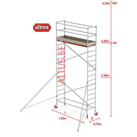 Altrex RS-41 Tower 0.75m B x 1.85m L x 4.20m Vh = 6.20 wh traditionele opbouw