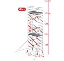 Altrex RS52 fiber-deck1.35 x 2.45 x 7.20m vh* = 9.20m wh