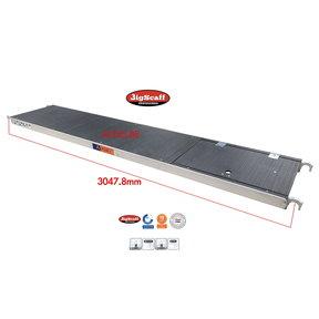 Platform met luik 305 Fibertech (lichtgewicht)