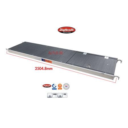 BigScaff RS60 lichtgewicht platform 2.45 met luik Fibertech