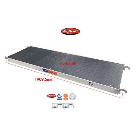 BigScaff RS60 lichtgewicht platform 1.85 zonder luik Fibertech