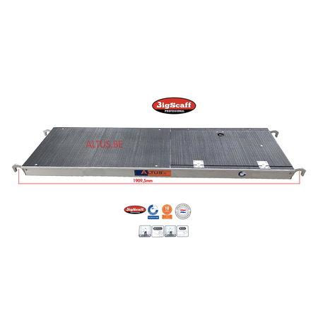 BigScaff RS60 lichtgewicht platform 1.85 met luik Fibertech