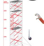 BigScaff RS62 Prof. alu rolsteiger 1.35m x 3.05m x 10.20m Ph= 12.20m Wh