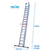 Solide 3-delige  schuifladder model D3x16
