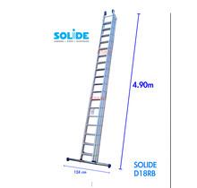Solide 3-delige professionele schuifladder model D3x18