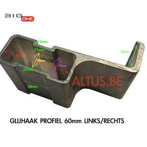 Glijhaak 60 voor Bigone GT-Line L/R