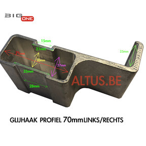 Glijhaak 70 voor Bigone GT-Line L/R