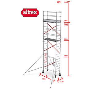 RS TOWER 54 -smal 0,75m x 1,85m x 7,80m werkhoogte