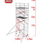 Altrex RS TOWER 55 kamersteiger 1.35 x 1.85 x 9.80m WH