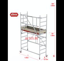 RS44-S POWER Safequick®-gevelvrij* 3.80m werkhoogte