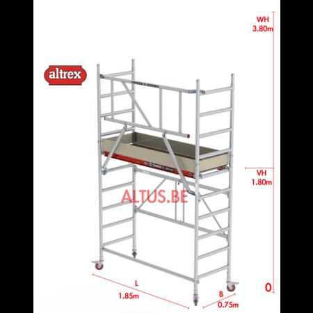 altrex RS44-S POWER Safequick®-gevelvrij* 3.80m werkhoogte
