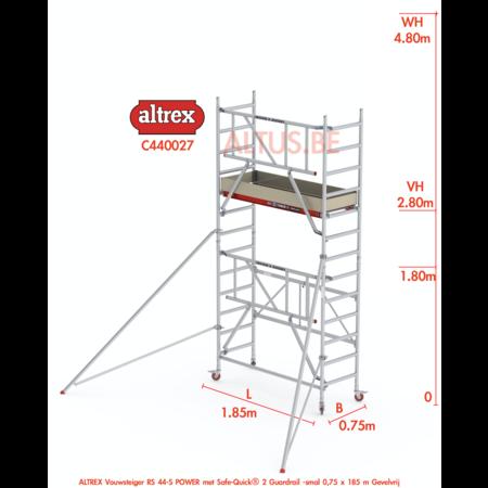 altrex RS44-S POWER Safequick®-gevelvrij* 4.80m werkhoogte