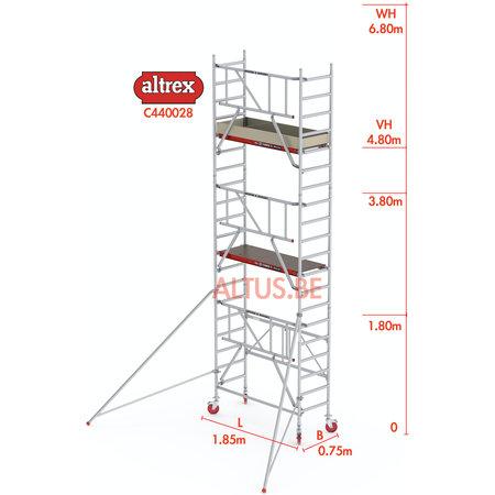 altrex RS44-S POWER Safequick®-gevelvrij* 6.80m werkhoogte