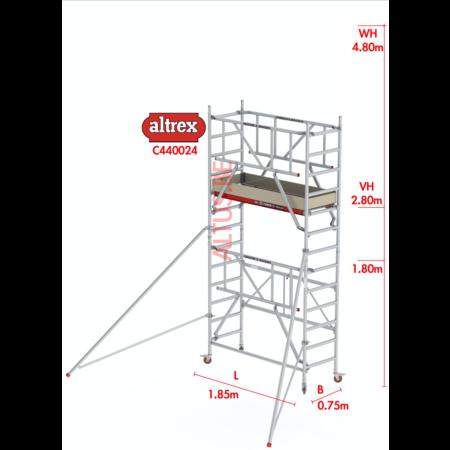 altrex RS44-S POWER Safequick® 4.80m werkhoogte