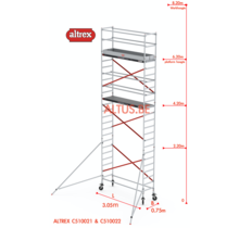 ALTREX RS TOWER 51-smal 0,75 x 3,05 x 8,20m WH