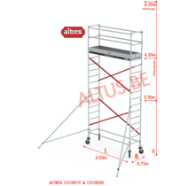 ALTREX RS TOWER 51-smal 0,75 x 3,05 x 6,20m WH