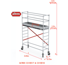 ALTREX RS TOWER 51-smal 0,75 x 3,05 x 4,20m WH