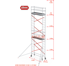 ALTREX RS TOWER 51-smal 0,75 x 2,45 x -9,20m WH