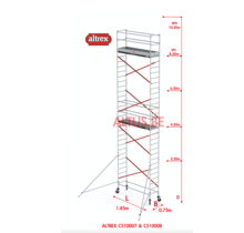 ALTREX RS TOWER 51-smal 0,75 x 1,85 x -10,20m WH