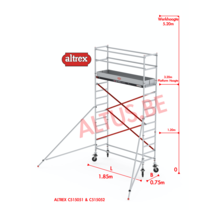 ALTREX RS TOWER 51-smal 0,75 x 1,85 x -5,20m WH