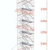 altrex trapsteiger rs tower 53/1.35 x 2.45 x 14.20m werkhoogte