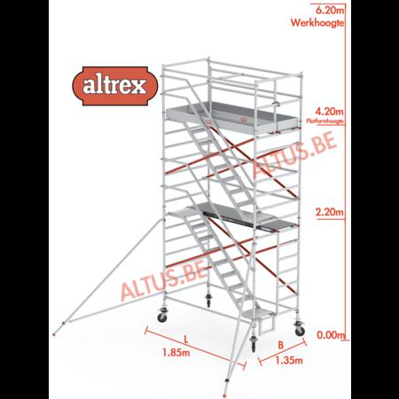 altrex Altrex trapsteiger rs tower 53/1.35 x 1.85 x 6.20m werkhoogte