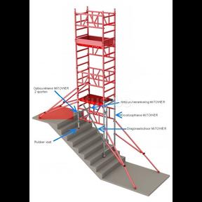 ALU MiTOWER PLUS STAIRS plus optie 0.75 x 1.60 x 6.20m