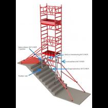 ALU MiTOWER STAIRS optie 0.75 x 1.00 x 4.20m