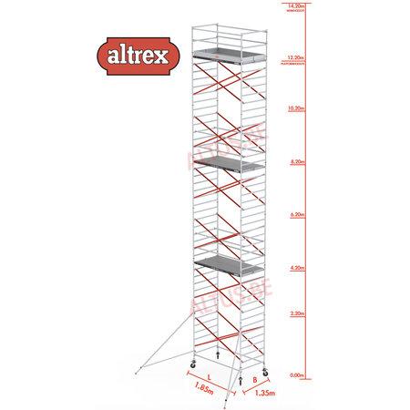 Altrex Altrex rolsteiger 1.35 x 1.85 x 12.20m vh = 14.20m wh