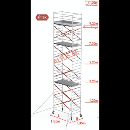 Altrex Altrex rolsteiger 1.35 x 1.85 x 9.20m vh = 11.20m wh