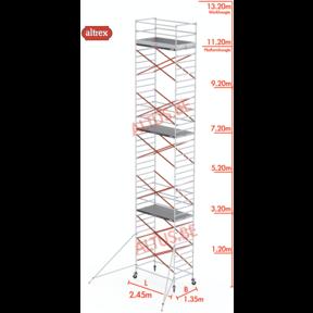 11.20m platformhoogte = 13.20m werkhoogte
