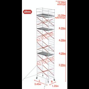 10.20m platformhoogte = 12.20m werkhoogte