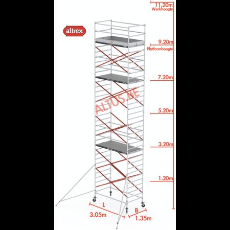 Altrex Altrex rolsteiger 1.35 x 3.05 x 9.20m vh = 11.20m wh