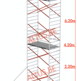 Altrex Altrex rolsteiger 1.35 x 3.05 x 8.20m vh = 10.20m wh